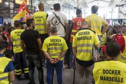 Grève des dockers du port de Marseille