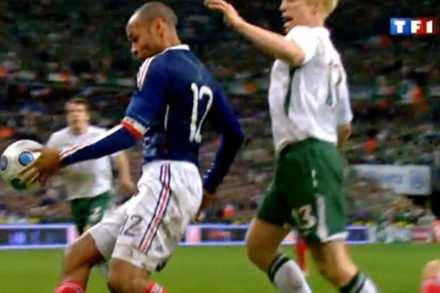 Match de foot Eire-France