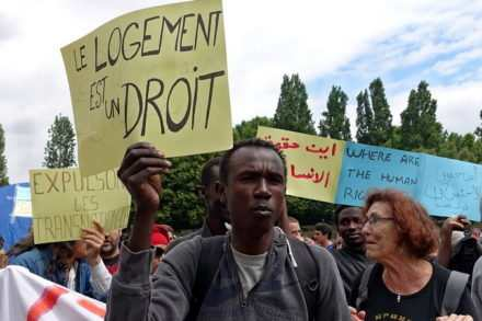Manifestation des immigrés en France
