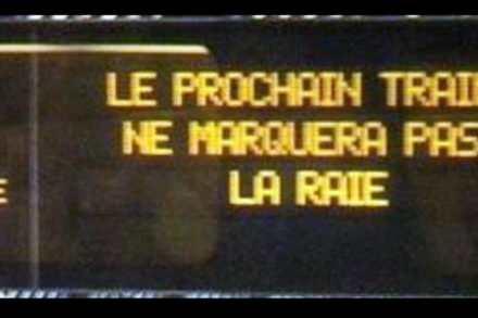 SNCF bourdes et erreurs
