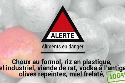 Alerte aliments frelatés